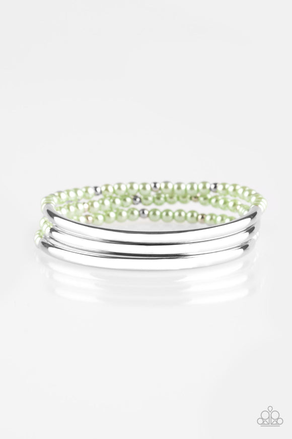 City Pretty  - Green - Stretch Bracelet