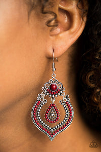 Congo Cadence - Red - Earrings