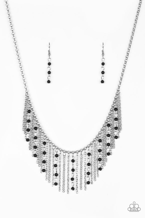 Harlem Hideaway - Black - Short Necklace