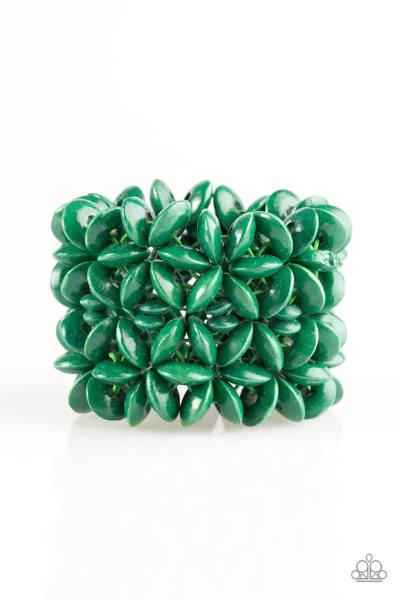 Hawaii Haven - Green - Stretch Bracelet