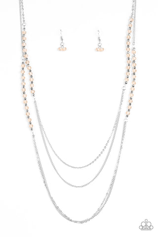 Shimmer Showdown - Champagne - Long Necklace