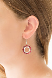 Wreathed In Radiance - Red - Earrings