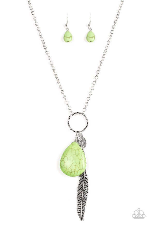 Canyon Quest - Green - Long Necklace