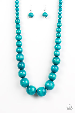 Effortlessly Everglades - Long Necklace - Blue