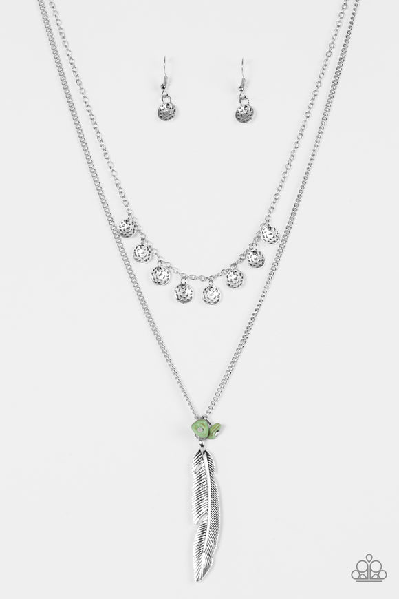 Mojave Musical - Green - Layered Necklace
