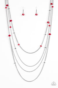 On the Front SHINE - Red - Necklace