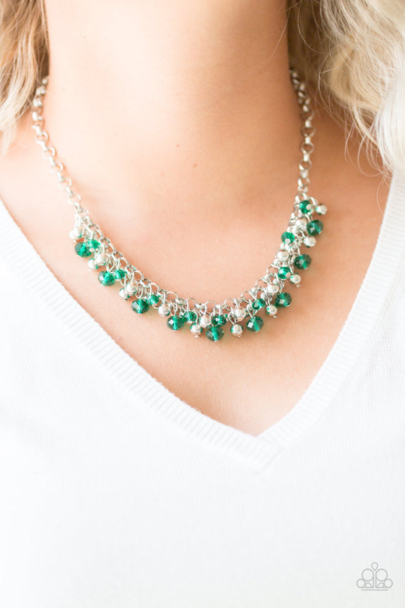 Trust Fund Baby - Green - Short Necklace