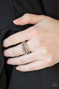 Bank On It - Brown Rhinestones - Stretch Ring