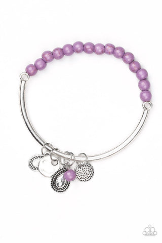 Ever Everest - Purple - Stretch Bar Bracelet