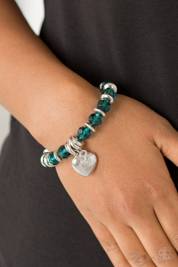 Need I Say AMOUR? - Blue - Stretch Bracelet