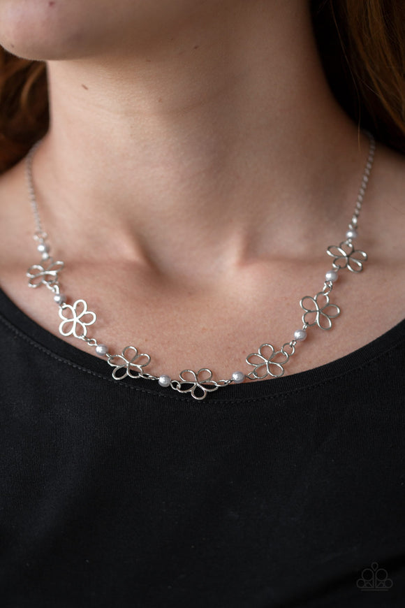 Always Abloom - Silver - Short Necklace