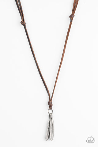 Eagerly Eagle - Brown - Leather Necklace - Uniquely Urban