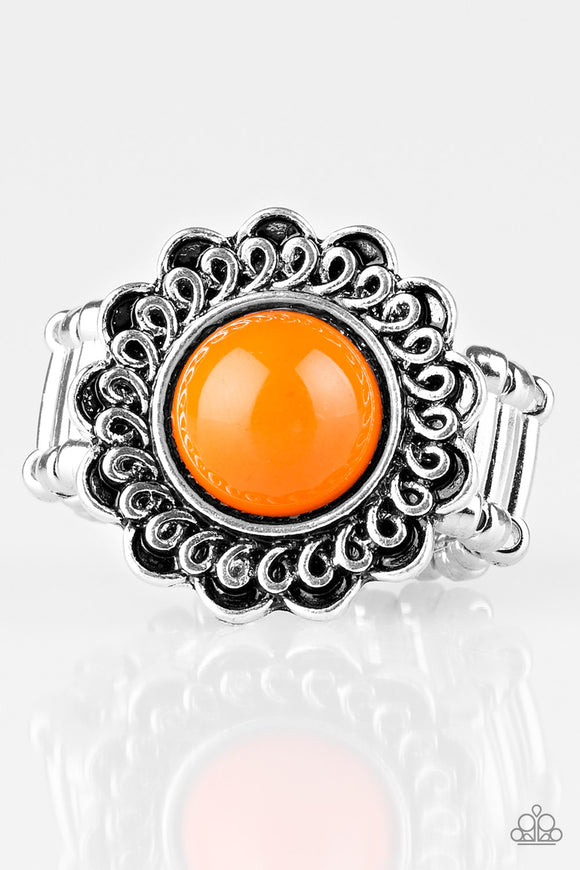 Garden Stroll - Orange - Stretch Ring