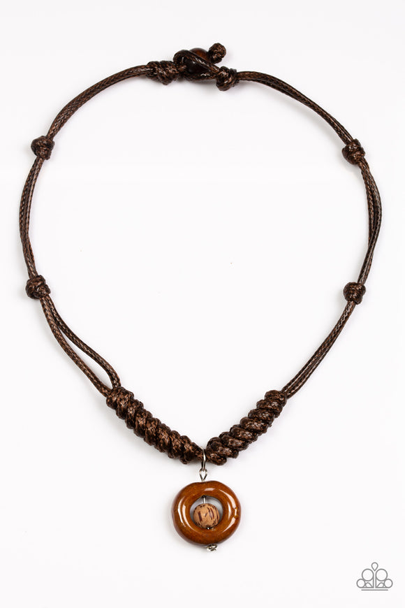 Stylishly Stone Age - Brown - Men's Neclace