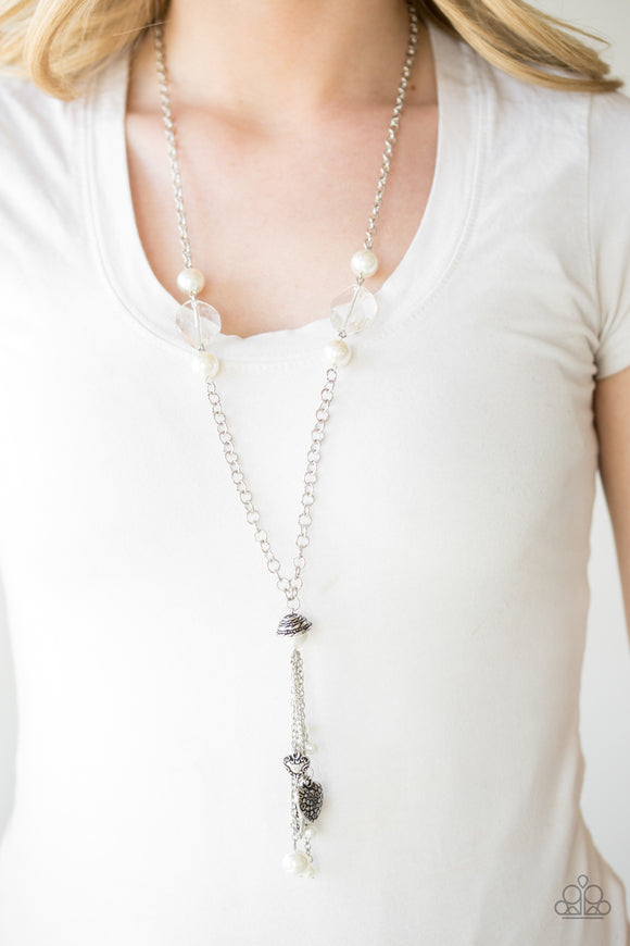 Heart-Stopping Harmony - White - Long Necklace