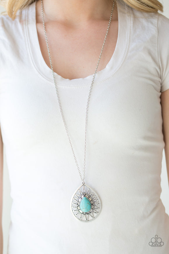Summer Sunbeam - Blue - Long Necklace