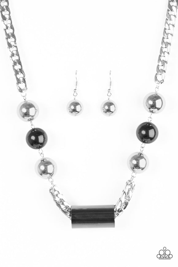 All About Attitude - Silver - Short Necklace