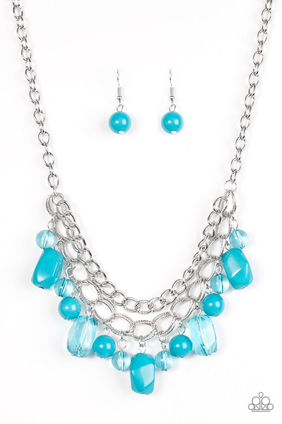 Brazilian Bay - Short Necklace - Blue