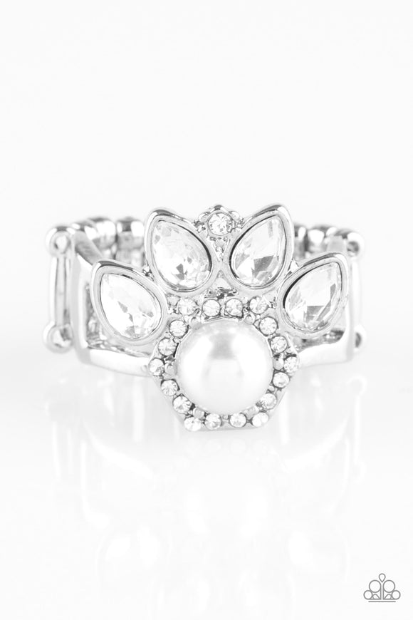 Crown Coronation - White - Stretch Ring