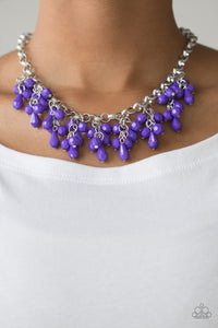 Modern Macarena - Purple - Short Necklace