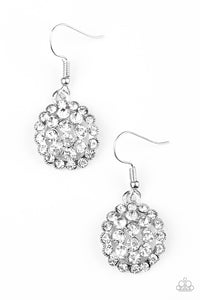 Runway Ready - White Rhinestone - Earrings