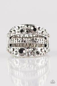 Stacks On Stacks On Stacks - Silver - Stretch Ring
