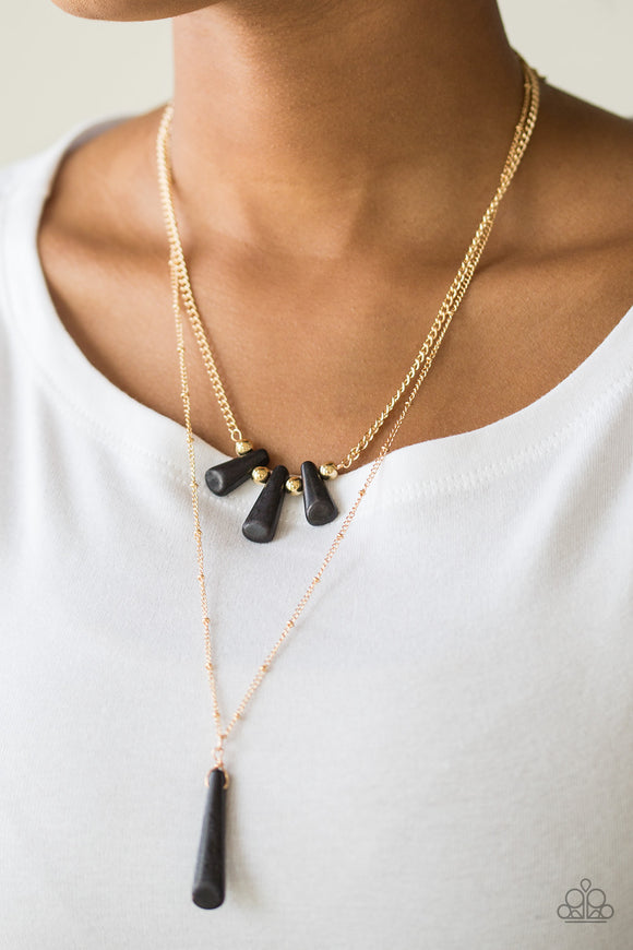 Basic Groundwork - Black - Short Necklace