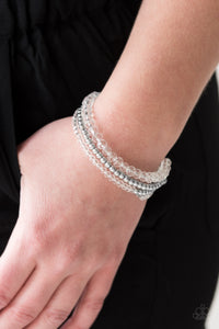 Luminous Luster - White - Memory Wire Wrap Bracelet