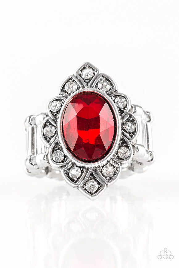 Power Behind The Throne - Red - Stretch Ring