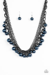 Shipwrecked Shimmer - Blue - Short Necklace