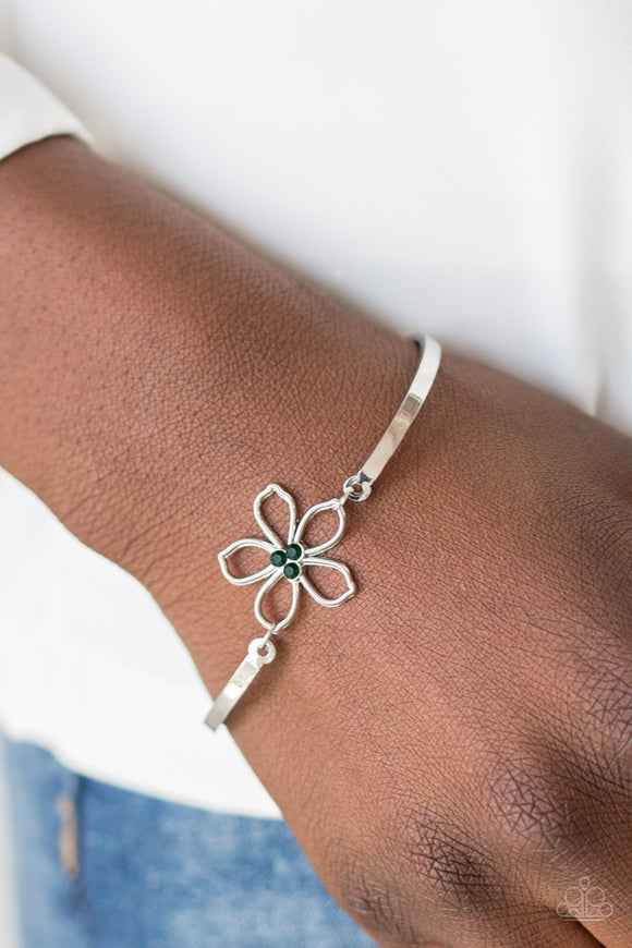 Hibiscus Hipster - Green - Clasp Bracelet