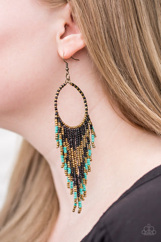 Live Off The BADLANDS - Seedbead - Earrings - Black