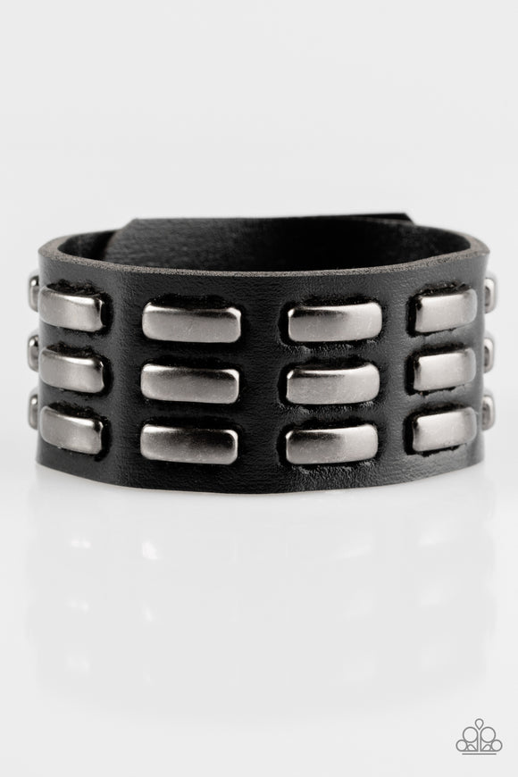 On Autopilot - Black - Leather Bracelet