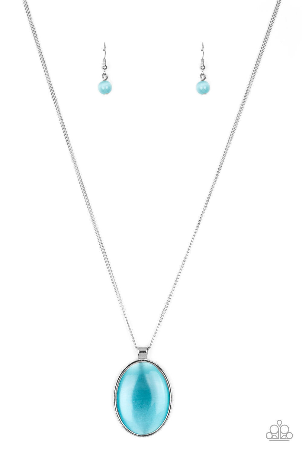 Pretty Poppin - Blue - Short Necklace