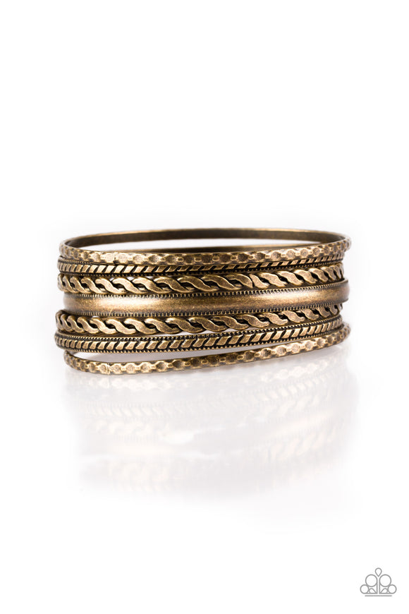 Rattle and Roll - Brass - Bangles Bracelet