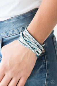 Rock Star Attitude - Blue - Wrap Bracelet