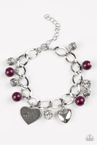 Royal Sweethearts - Purple - Clasp Bracelet
