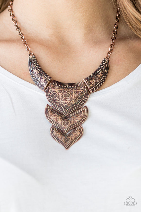 Texas Temptress - Copper - Short Necklace
