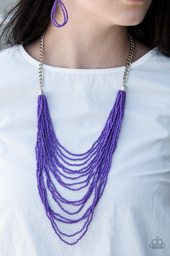 Bora Bombora - Purple - Seed Bead Necklace