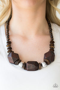 Costa Maya Majesty - Brown - Short Necklace