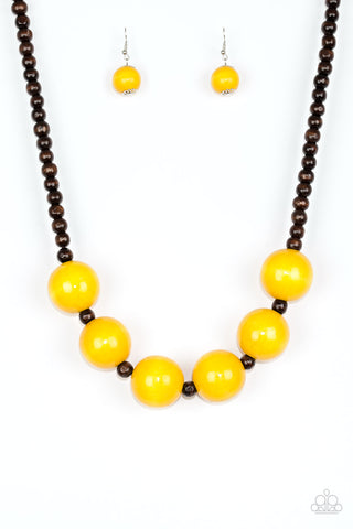 Oh My Miami - Yellow - Wood Beads