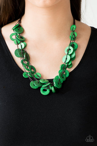 Wonderfully Walla Walla - Short Necklace - Green