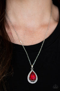 Because I'm Queen - Red - Short Necklace