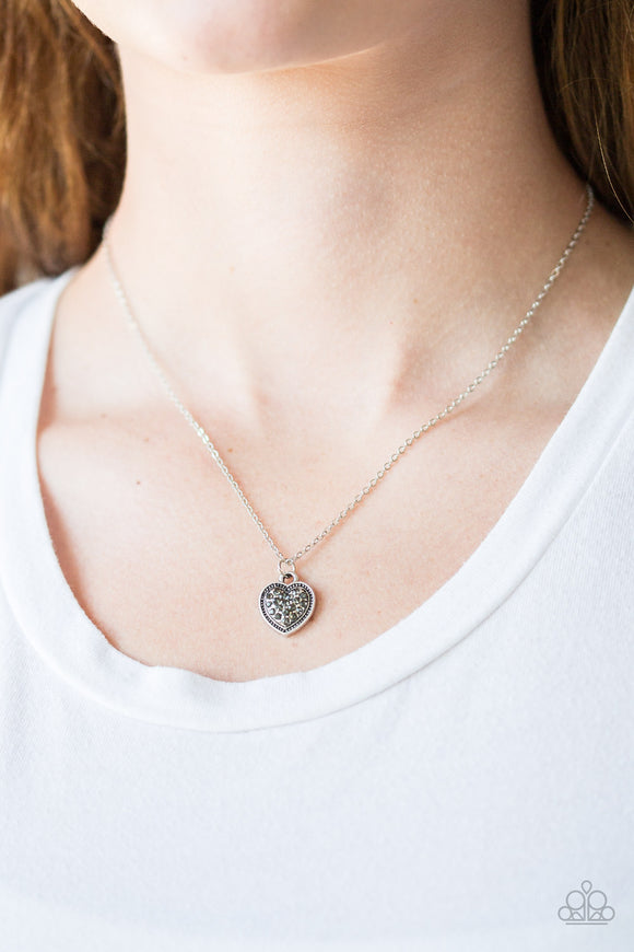 Fierce Flirt - Silver - Short Necklace