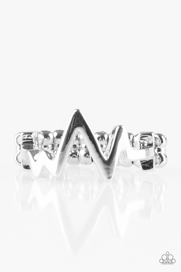 Check My Pulse -  Silver - Stretch Ring