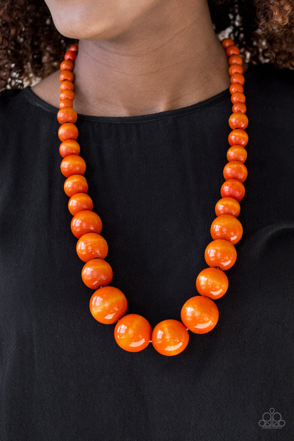Effortlessly Everglades - Long Necklace - Orange