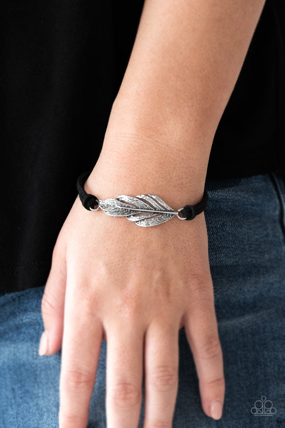 Faster Than FLIGHT - Black - Clasp Bracelet