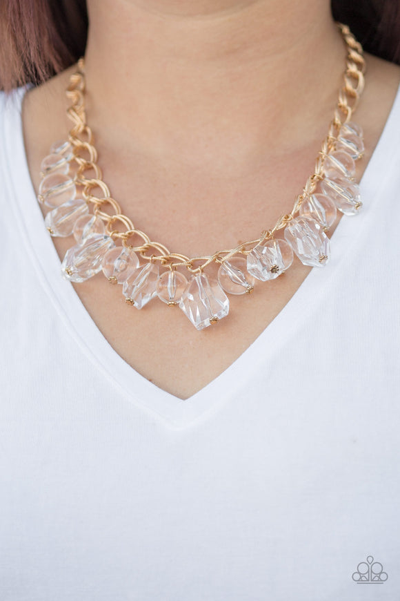Gorgeously Globetrotter - Gold - Short Necklace