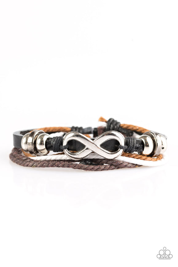 Infinite Ways - Multicolor - Adjustable Leather Bracelet