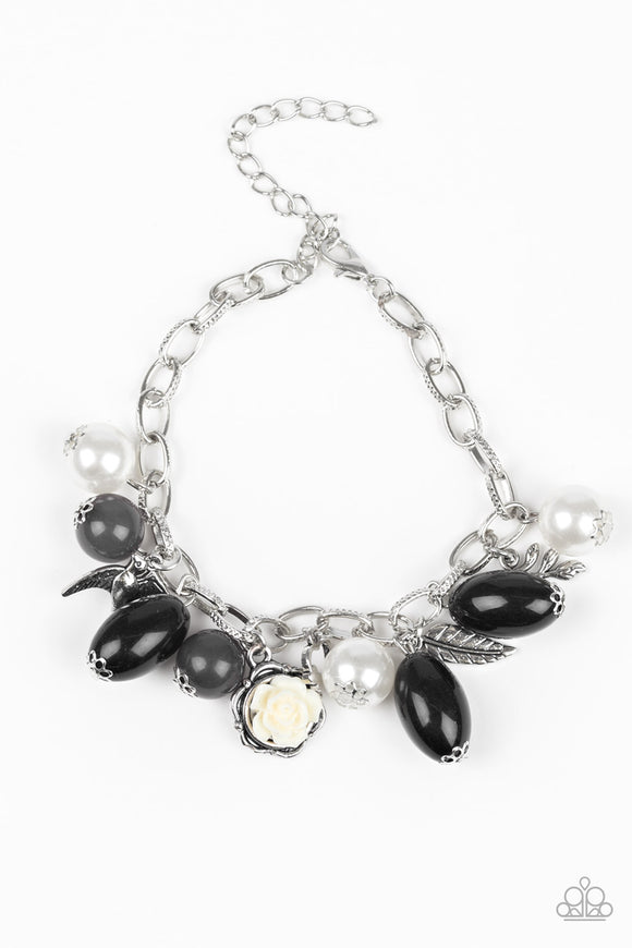 Love Doves - Black - Clasp Bracelet